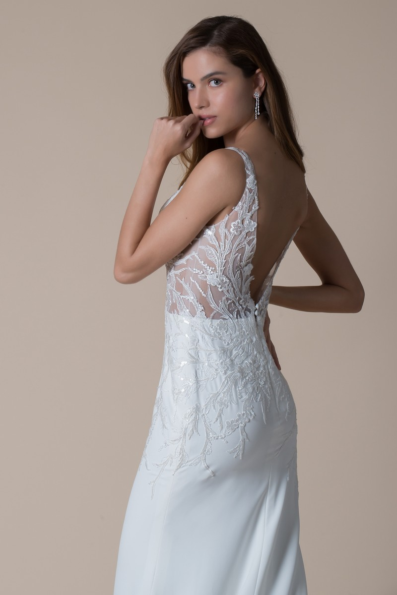 Back of Elodie Wedding Dress from the MiaMia Flying Down to Rio 2020 Bridal Collection