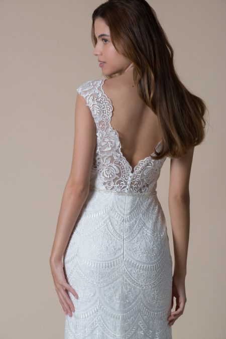 Back of Patience Wedding Dress from the MiaMia Flying Down to Rio 2020 Bridal Collection