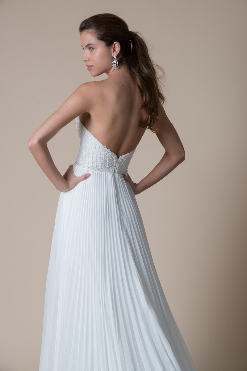 Back of Sandalwood Wedding Dress from the MiaMia Flying Down to Rio 2020 Bridal Collection