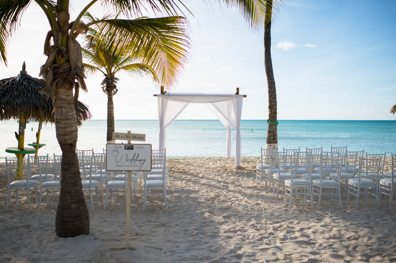 Aruba Beach Wedding Ceremony Seating