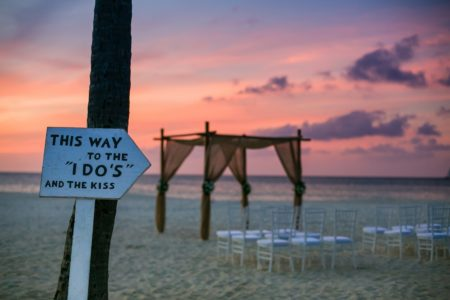 Aruba Beach Wedding Setup