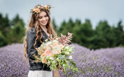 Bridal Portrait Inspiration in the Cotswold Lavender Fields