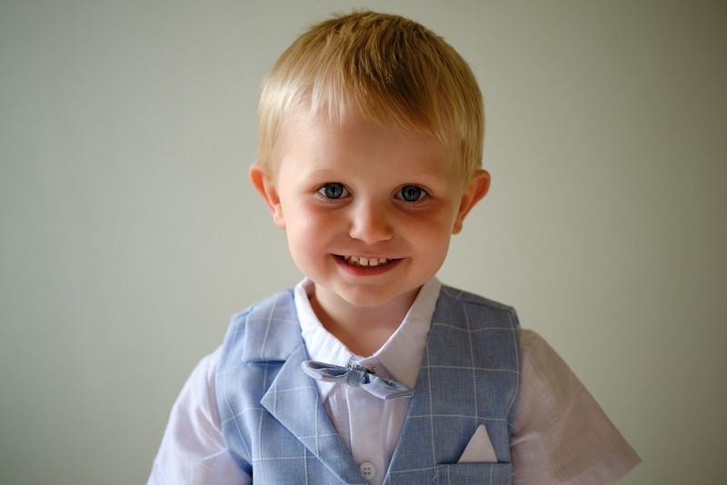 Pageboy smiling
