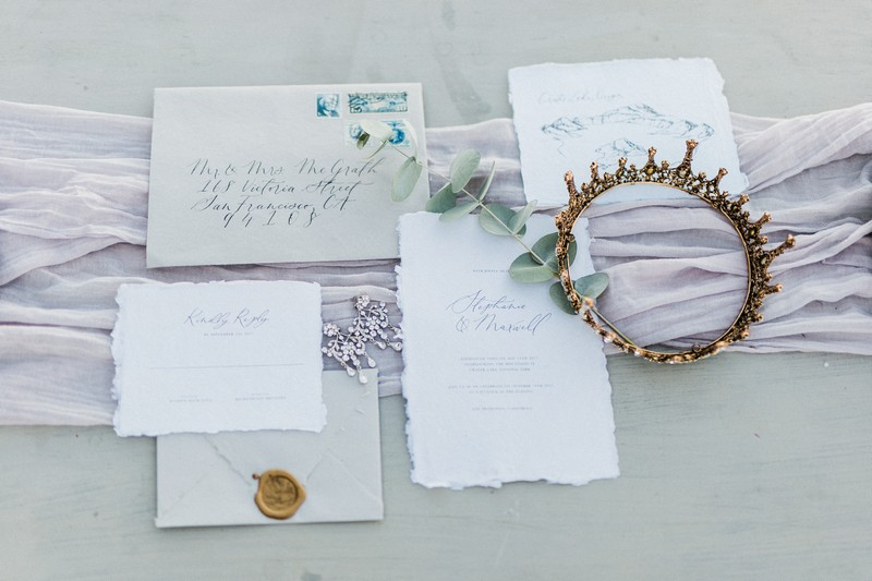 Simple elopement stationery