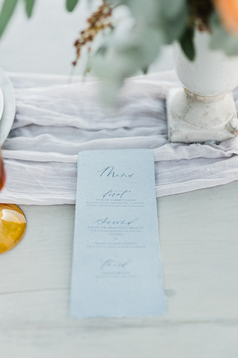 Elopement menu