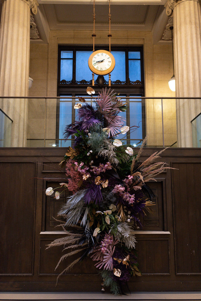 Statement wedding floral display