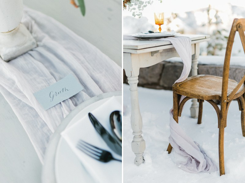 Groom place setting for elopement