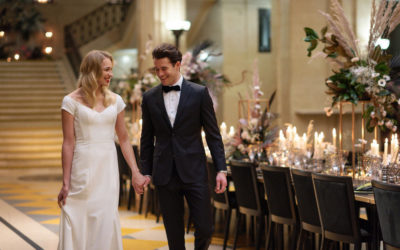 City Chic Wedding Styling with Statement Floral Displays