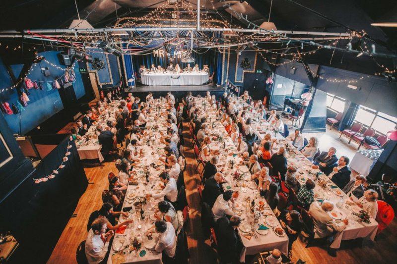 Wedding breakfast at the Marine Theatre in Lyme Regis