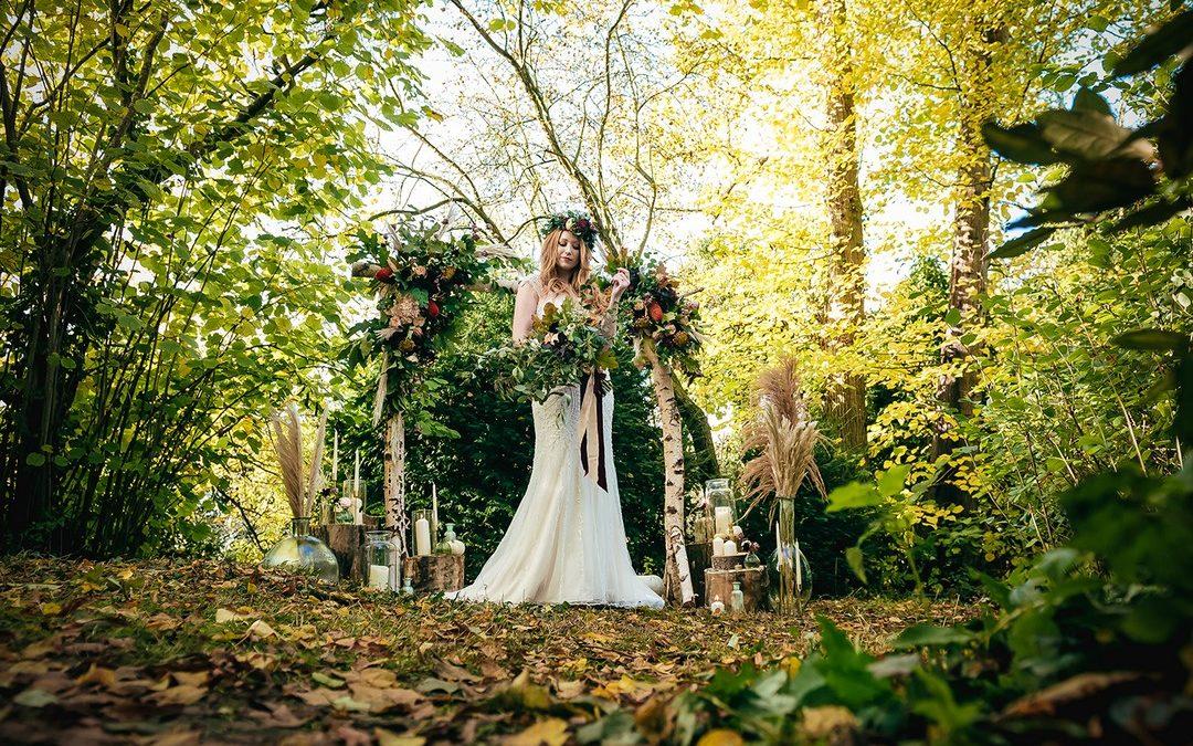 Secret Woodland Wedding Styling at The Moat House