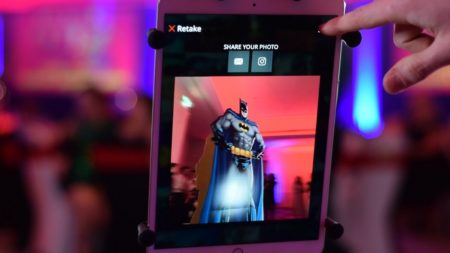 iPad showing picture taken on 360 Slow Motion Booth