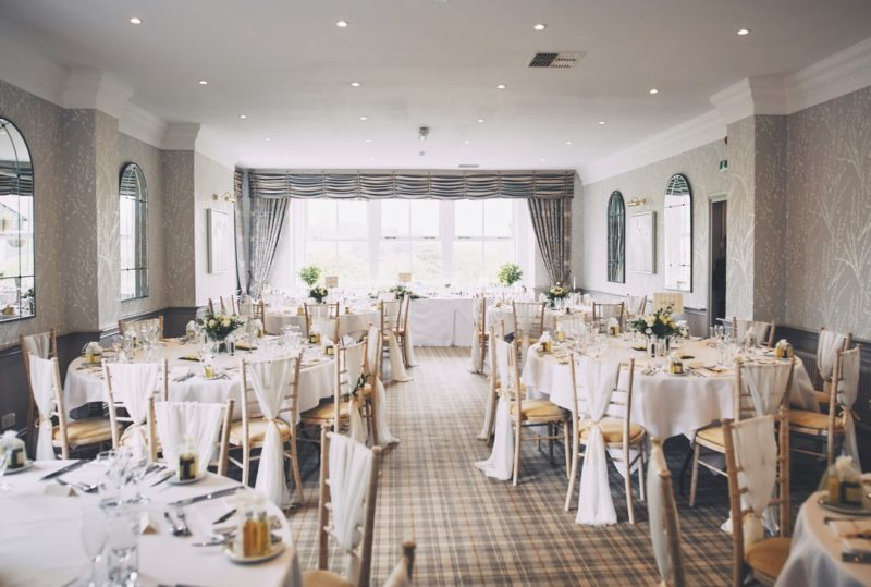 Wedding tables in The Devonshire Fell