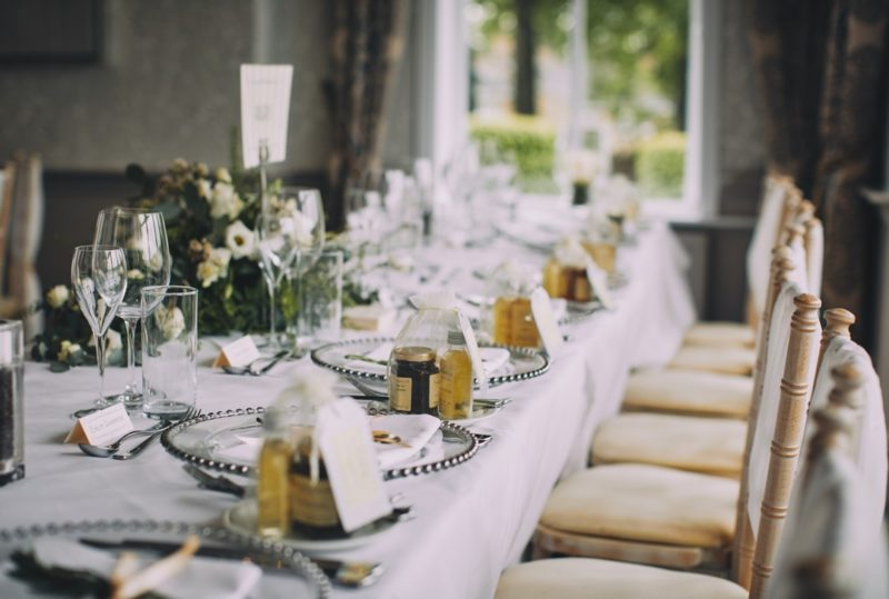 Elegant wedding table styling