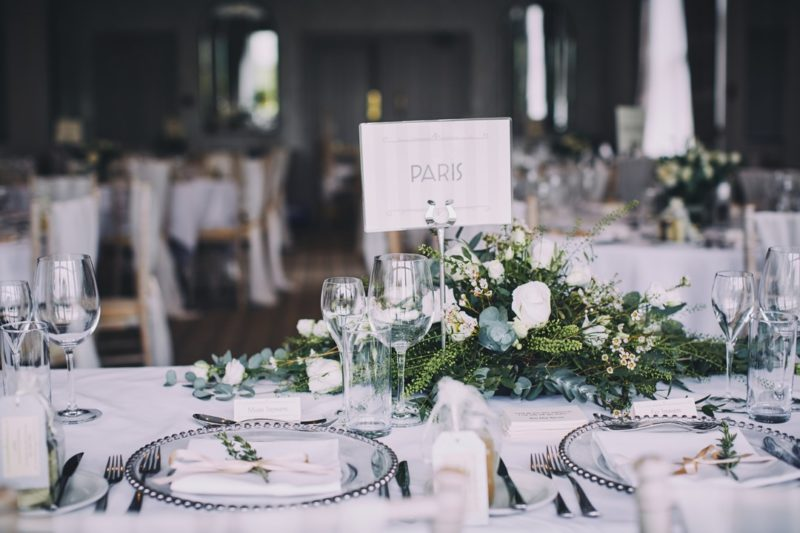 Paris wedding table name