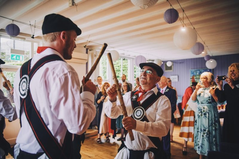 Morris Dancers at wedding