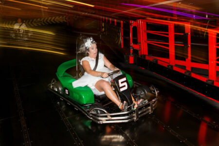 Bride driving Go Kart - Picture by Martin Dabek Photography