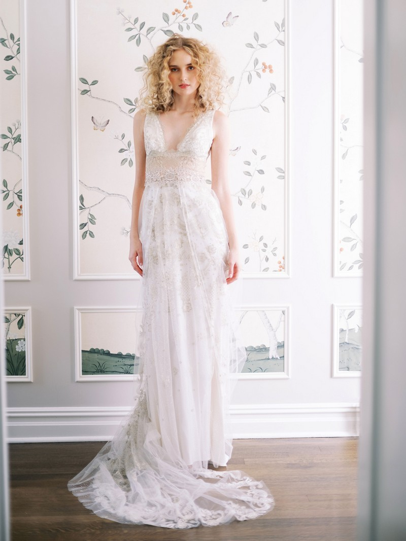 Anastasia wedding dress from the Claire Pettibone Evolution 2020 Bridal Collection