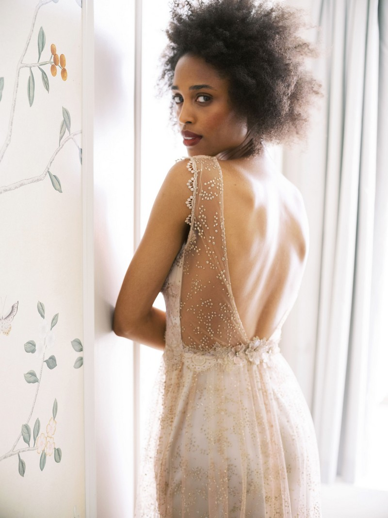 Back of Aurora wedding dress from the Claire Pettibone Evolution 2020 Bridal Collection