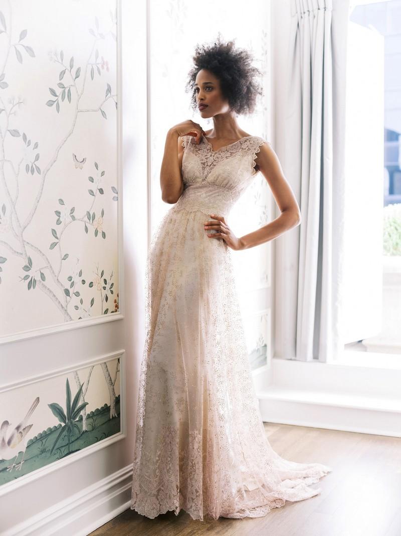 Aurora wedding dress from the Claire Pettibone Evolution 2020 Bridal Collection
