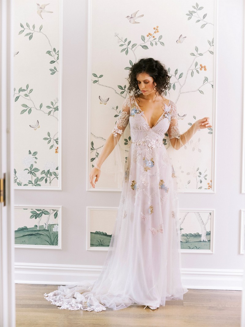 Chrysalis wedding dress from the Claire Pettibone Evolution 2020 Bridal Collection
