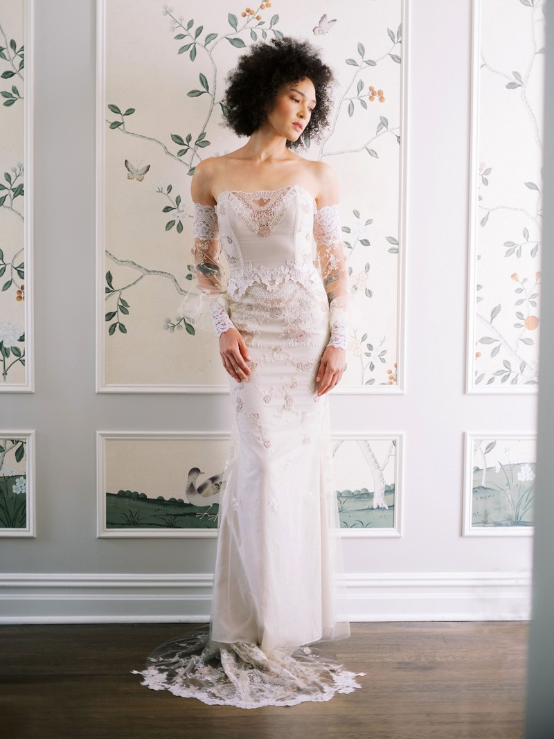 Lyra wedding dress from the Claire Pettibone Evolution 2020 Bridal Collection