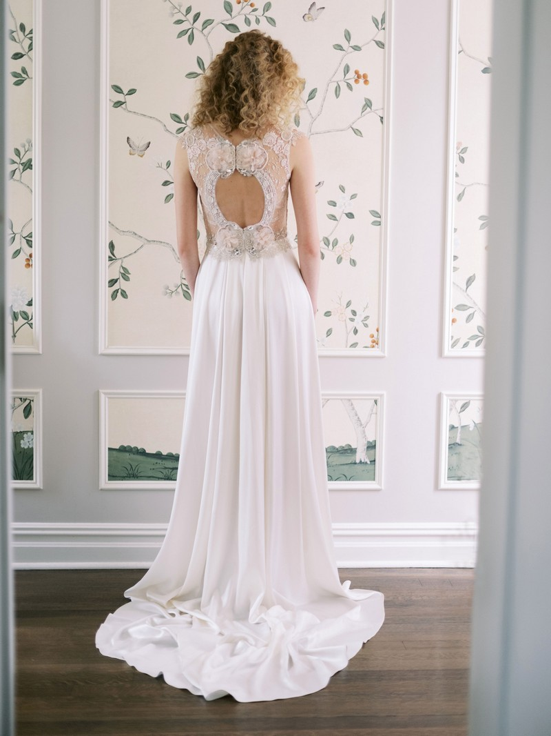 Back of Nera wedding dress from the Claire Pettibone Evolution 2020 Bridal Collection