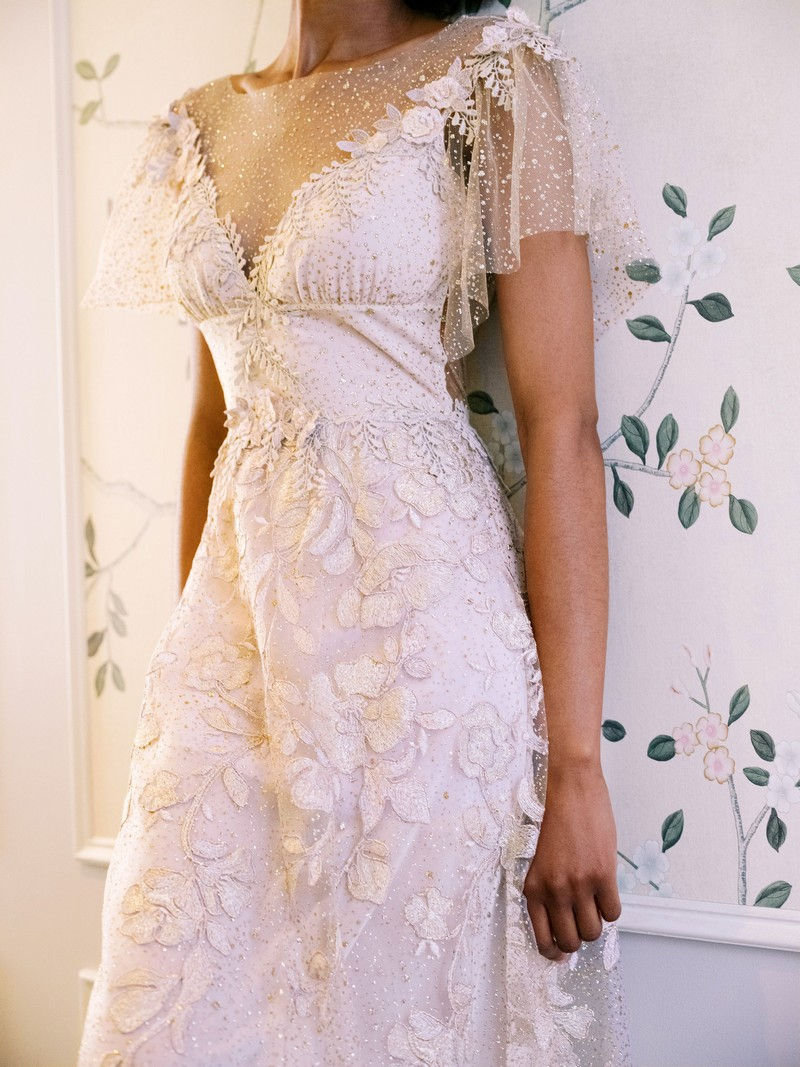 Soleil wedding dress from the Claire Pettibone Evolution 2020 Bridal Collection