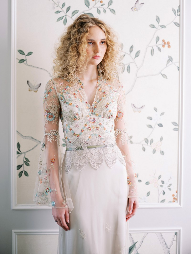 Vida wedding dress from the Claire Pettibone Evolution 2020 Bridal Collection
