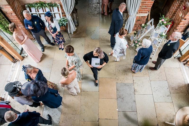 Guests at Shustoke Barn wedding