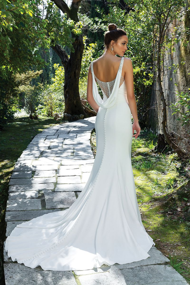 Back of Style 88108 Wedding Dress from the Justin Alexander Spring/Summer 2020 Bridal Collection