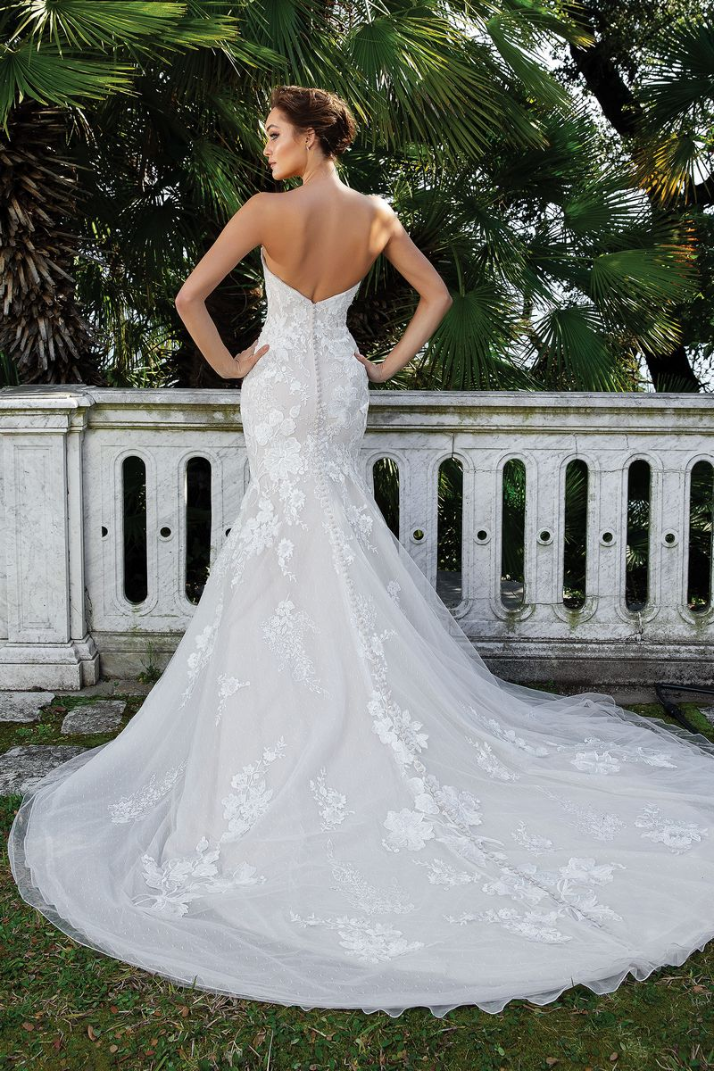 Back of Style 88123 Wedding Dress from the Justin Alexander Spring/Summer 2020 Bridal Collection