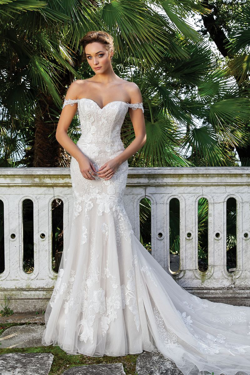 Style 88123 Wedding Dress with Straps from the Justin Alexander Spring/Summer 2020 Bridal Collection
