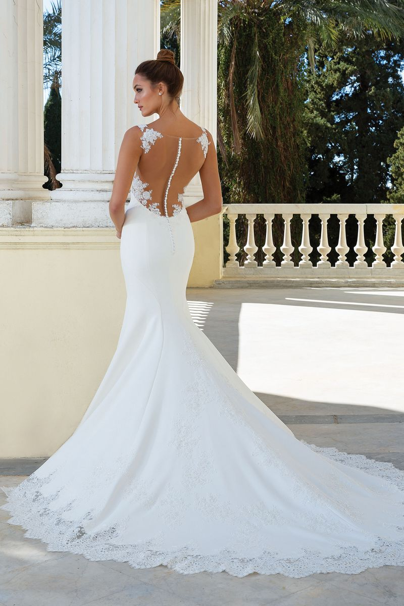 Back of Style 88126 Wedding Dress from the Justin Alexander Spring/Summer 2020 Bridal Collection