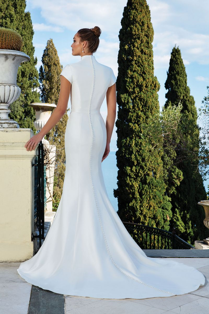 Back of Style 88132 Wedding Dress from the Justin Alexander Spring/Summer 2020 Bridal Collection