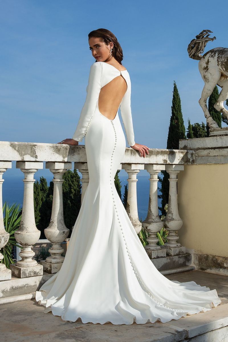 Back of Style 88133 Wedding Dress from the Justin Alexander Spring/Summer 2020 Bridal Collection