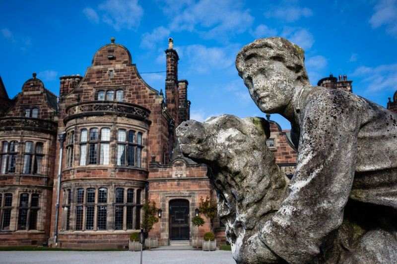 Statues outside Thornton Manor