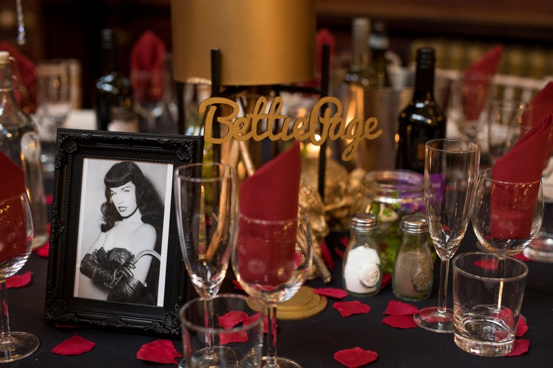 Bettie Page wedding table name