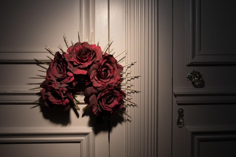 Large floral bridal headband