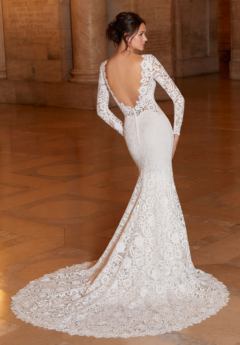 Back of Alexandria (Style 1046) wedding dress from the Madeline Gardner Signature Spring 2021 Bridal Collection