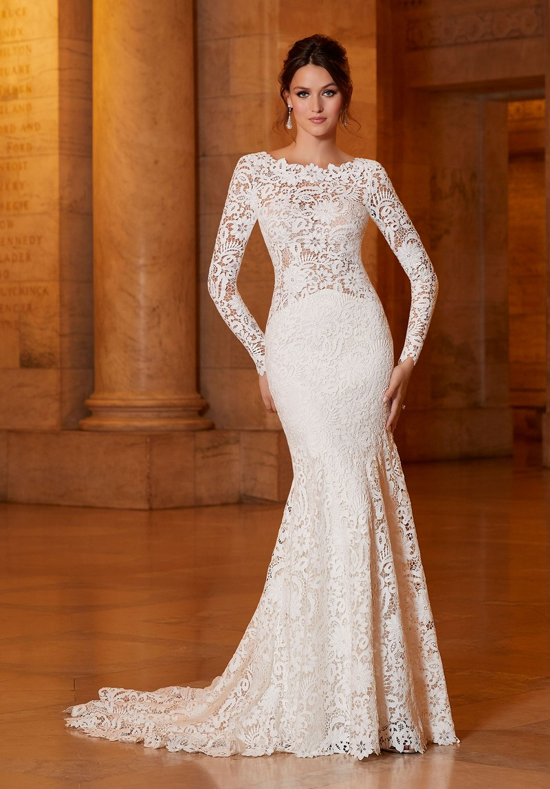 Alexandria (Style 1046) wedding dress from the Madeline Gardner Signature Spring 2021 Bridal Collection