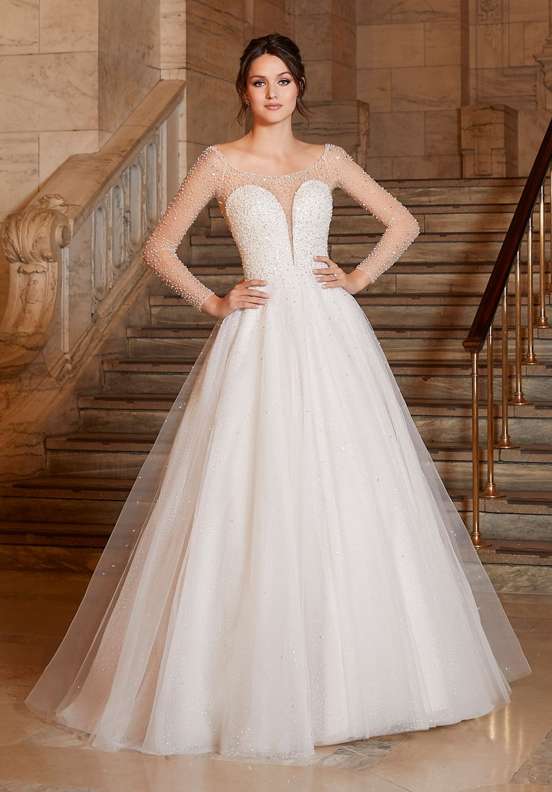Angelina (Style 1049) wedding dress from the Madeline Gardner Signature Spring 2021 Bridal Collection