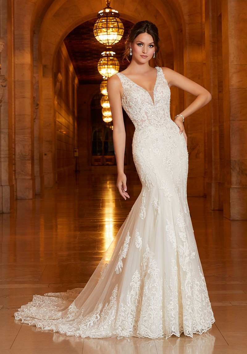 Aphrodite (Style 1042) wedding dress from the Madeline Gardner Signature Spring 2021 Bridal Collection