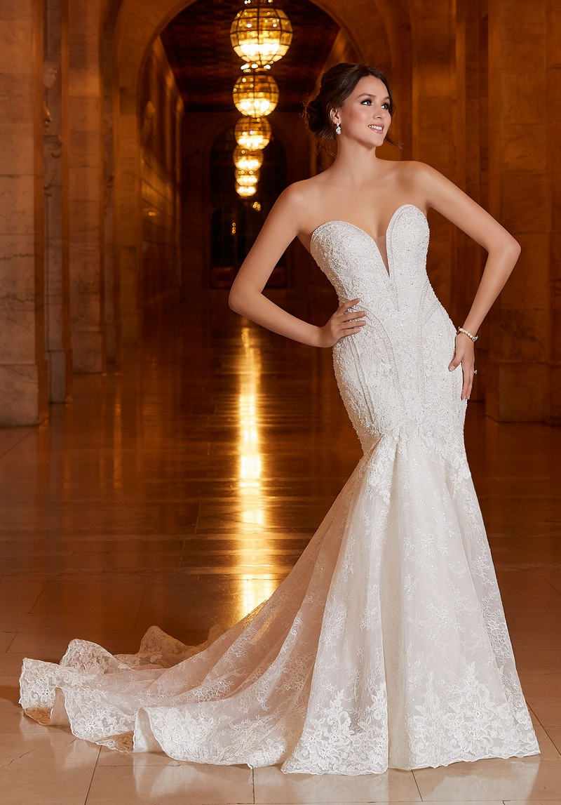 Athena (Style 1044) wedding dress from the Madeline Gardner Signature Spring 2021 Bridal Collection