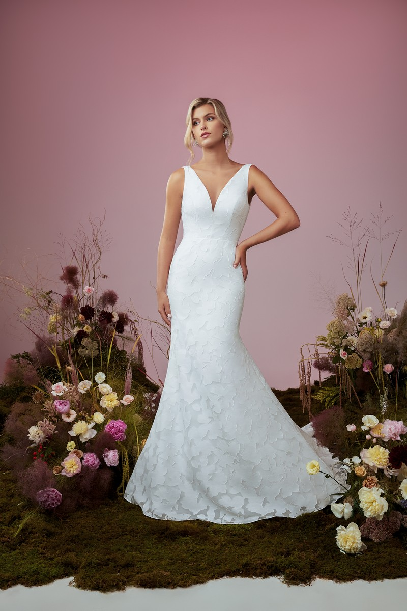 Dayflower wedding dress from the Anne Barge Blue Willow Bride 2021 Bridal Collection
