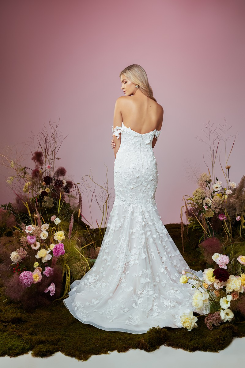 Back of Flutter wedding dress from the Anne Barge Blue Willow Bride 2021 Bridal Collection