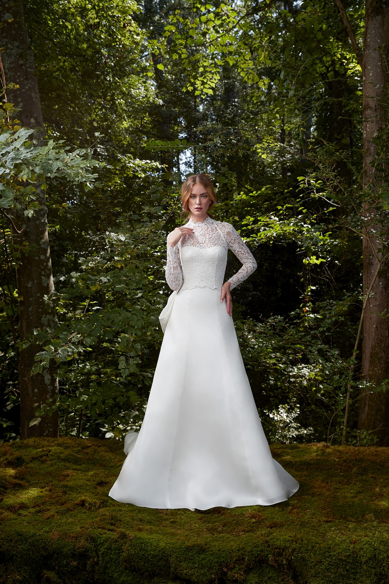 Glory wedding dress with top from the Anne Barge 2021 Bridal Collection