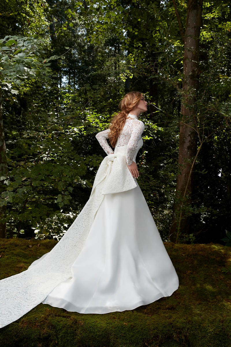 Back of Glory wedding dress with top from the Anne Barge 2021 Bridal Collection