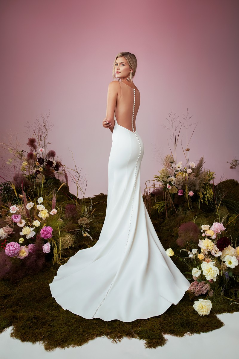 Back of Kismet wedding dress from the Anne Barge Blue Willow Bride 2021 Bridal Collection