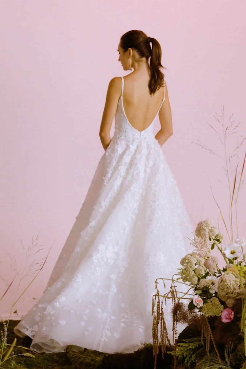 Back of Poetic Light wedding dress from the Anne Barge Blue Willow Bride 2021 Bridal Collection