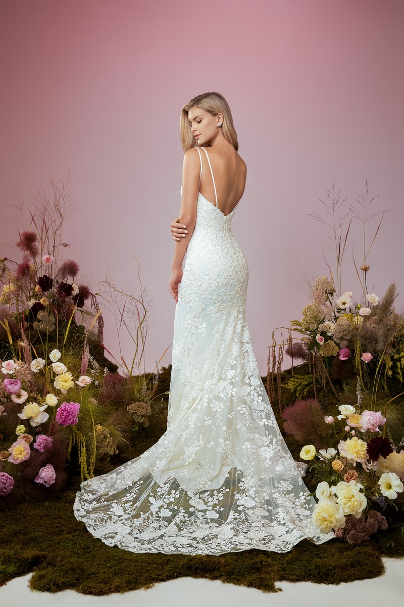 Back of Serendipity wedding dress from the Anne Barge Blue Willow Bride 2021 Bridal Collection